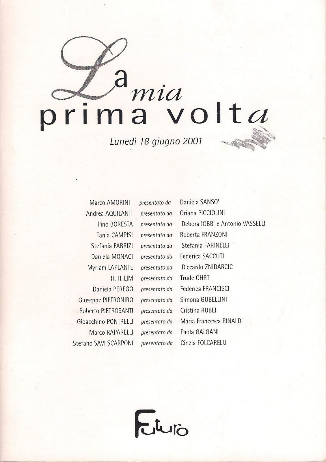 Stefano Savi Scarponi presentato da Cinzia Folcarelli